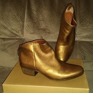 Lucky Brand Booties In Bronze